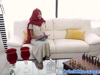 Muslim babe massaged before doggystyle