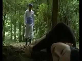 Japanese Love Story School Girl is seduced in public toilet and fucked outside