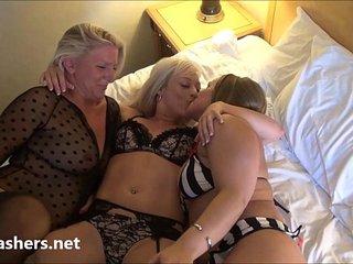 Mature lesbian voyeur girls fingering and pussy pleasuring on spycam with milf b