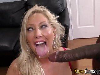 Jizz mouth cuckold domina