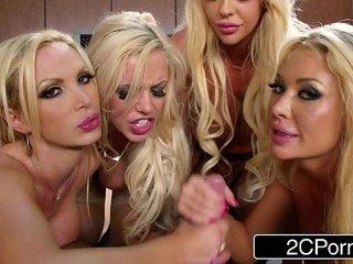 Blonde Orgy at the Office Courtney Taylor, Nikki Benz, Nina Elle, Summer Brielle