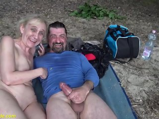 brutal outdoor sex for 85 years old mom