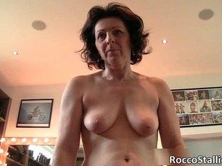 Hot big boobed brunette MILF whore